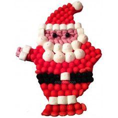 Le gâteau de bonbons Père Noël