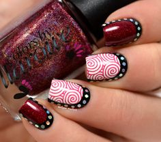 Nail art stamping and ruffian - Nails | Bellashoot