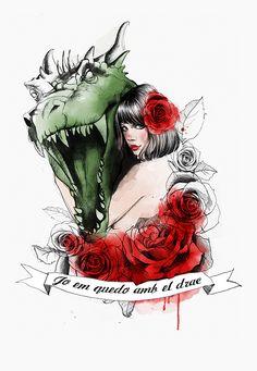 Illustration serie based on Sant Jordi legend