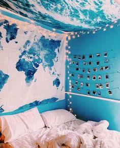 Ocean Bedroom, Small Room Bedroom, Blue Bedroom, Room Decor Bedroom, Bedroom Ideas, Master Bedroom, Budget Bedroom, Trendy Bedroom, Bedroom Inspo