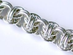 Items similar to Orbital Weave Chainmaille Bracelet in Argentium Sterling Silver - Medium Weight on Etsy Wire Jewelry, Unique Jewelry, Jewellery, Chainmaille Bracelet, Beautiful Necklaces, Weave, Jewelry Making, Sterling Silver, Hopea