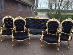 French Furniture Antique Chair French Settee 5 Piece Set