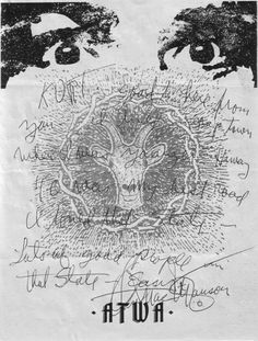 Charles Manson, 2006 | Source  Letterhead used by serial killer Charles Manson. ATWA stands for Air, Trees, Water, Animals.