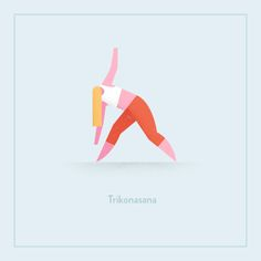 Morgane Sanglier on Behance-Yoga poses illustrated