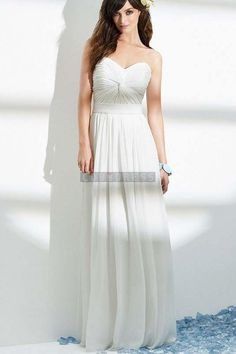 Pleated Column Sweetheart Chiffon Natural Waist Long Criss Cross Zipper Wedding Dress
