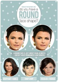 Great article for round faces, hair styling and haircuts that work for us!