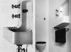 IKB: Ike Kligerman Barkley New York & San FranciscoIke Kligerman Barkley (IKB) is an architecture and interior design firm based in New York City and San Francisco providing high end residential design. Outside Toilet, Interior Architecture, Interior Design, Toilet Room, Downstairs Toilet, Wash Hand Basin, Attic Bathroom, Bathrooms, Sink Design