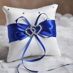 Outgeek Wedding Ring Pillow Decorative Ribbon Bow Wedding Ring Cushion Ring Bearer Pillow Throw Pillow with Bowknot x Ring Pillows, Blue Pillows, Diamond Wedding Rings, Bridal Rings, Tiffany Blue Weddings, European Wedding, European Style, Heart Pillow, Knot Pillow