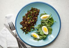 Pistachiho Quinoa with Spinach & Egg by bonappetit: Part of Bon Appetit's Food Lover's Cleanse 2013 #Quinoa #Cleanse