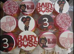 Baby Cupcake, Custom Cupcakes, Boss Baby, 3rd Baby, Cupcake Toppers, Sugar, Cookies, Desserts, Personalised Cupcakes