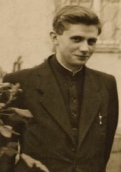 Young priest Joseph Ratzinger