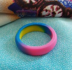 Multi-Color Neon Silicone Wedding Ring Women Female Girl Band 5.5mm Size 6 7 8 9…