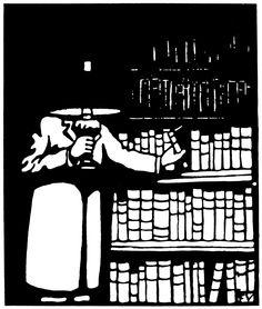 Félix Vallotton - Le Bibliophile, 1911 Gravure sur bois