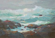 """California Coast"" - S. C. Yuan (1911 -1974) Oil on board"
