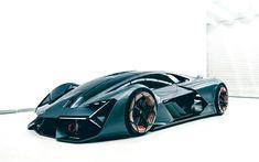 Scarica sfondi Lamborghini Terzo Millennio, Concept, 2017, Supercar, racing cars, sports cars, Lamborghini