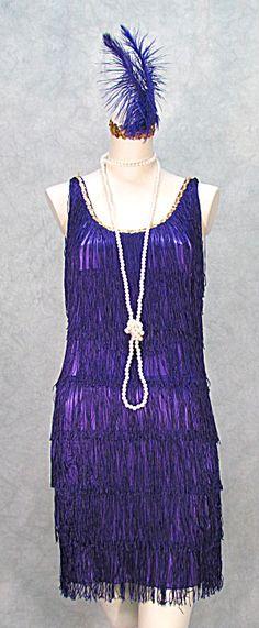 roaring 20s flapper dress | PLUS SIZES PURPLE (FLAPPER DRESS - Fringed - Gatsby - Roaring 20s ...