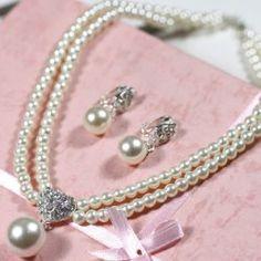 $15.83 Charming Elegant Style Embellished Faux Pearl Decorated 2PCS Bridal Jewelry  Vamos compartilhar e juntos temos chance de ganhar artigos da Sammy Dress!