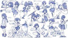 女の子制服ポーズ練習その5 / さきの新月 さんのイラスト - ニコニコ静画 (イラスト)