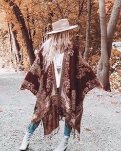 Kimono - RUSTY - Boho Kimono Beach Cover Up Chiffon Kimono Long Kimono Robe Summer Kimono Bohemian Print Kimono Boho Fashion Kimono Beach Cover Up, Summer Kimono, White Dress Summer, Summer Dresses, Chiffon Kimono, Boho Kimono, Cashmere Pashmina, Textiles, Bohemian Print