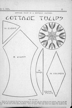 Kansas City Star, Cottage Tulip is a Difficult Pattern, Eveline Foland, November 11, 1931