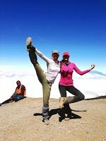 #getfit   Two of The 3 Million club on top of the Great Barranco Wall on a Private Expeditions climb to Mt Kilimanjaro with www.privateexpeditions.com