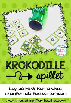 Krokodillemat og Dobbeldille – redigerbart spill med uendelige muligheter!   Femoverfire