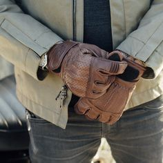 Rolland Sands Design Barfly Leather Motorcycle Gloves