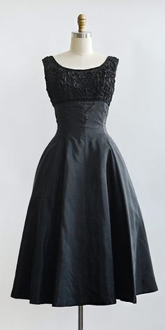 vintage 1950s dress / Licorice Fondant Dress from Adored Vintage