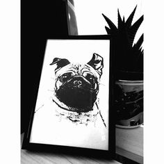 Pug Picture by Lavinkworld on Etsy