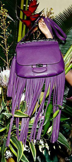 Gucci ● SS 2014 Nouveau Fringe Leather  Bag