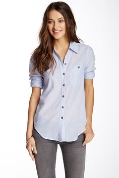 Solid Woven Long Sleeve Shirt by Triple Five Soul on @nordstrom_rack