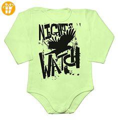 GoT Nights Watch Wall Crow Art Baby Long Sleeve Romper Bodysuit Extra Large - Baby bodys baby einteiler baby stampler (*Partner-Link)