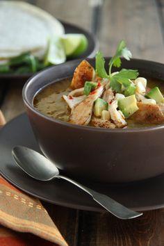 Chicken Tomatillo & Chile Soup.