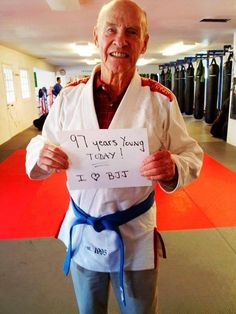 97-years-old and doing Brazilian Jiu Jitsu