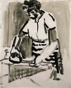 View Woman ironing by David Park on artnet. Browse upcoming and past auction lots by David Park. Figure Painting, Figure Drawing, Bay Area Figurative Movement, Oakland Museum, Past Papers, Woman Sketch, San Francisco Museums, Ink Pen Drawings, Artist Sketchbook