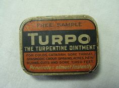 SAMPLE TIN TURPO TURPENTINE OINTMENT