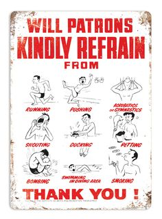 Swimming Pool Rules Poster - Swimming pools are places where people really like to relax in and from. The swimming pools t 1980s Childhood, My Childhood Memories, Magic Memories, Swimming Pool Rules, Pool Rules Sign, Wall Signs, Vintage Posters, Vintage Ads, Vintage Stuff