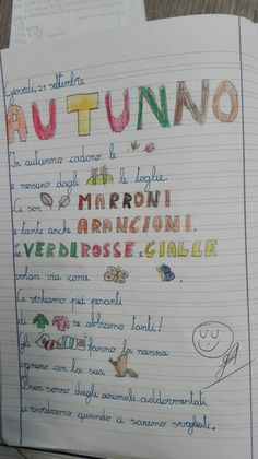Autunno-Italiano in terza-settembre - Maestra Anita Writing Activities, Worksheets, Language, Bullet Journal, Education, School, Michelangelo, Teaching Ideas, Plants