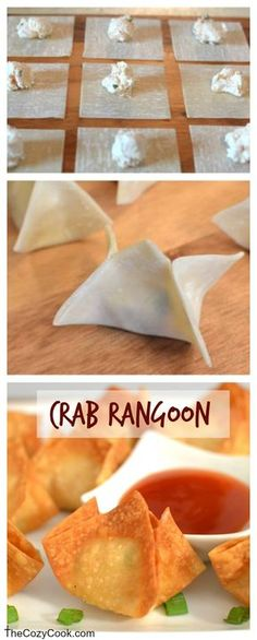 This crispy Crab Rangoon is just like from a restaurant and so fun and easy to make at home!