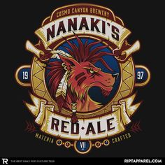 Nanaki's Red Ale T-Shirt - Final Fantasy VII T-Shirt is $11 today at Ript!