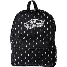 Vans The Realm Backpack in Lightning Bolt ($35) ❤ liked on Polyvore featuring bags, backpacks, accessories, bolsos, multi, zipper pencil bag, pocket bag, strap bag, zip bags and knapsack bags