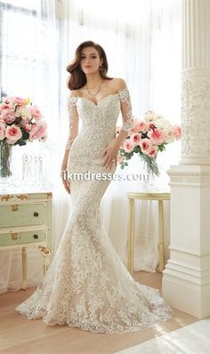 Vestido De Noiva Manga Longa 2016 Long Sleeve Lace Wedding Dresses Sexy Backless Mermaid Wedding Dresses 2016 Robe De Mariage Casamento 001