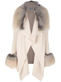 BLUMARINE Fur Trim Coat | http://www.oliviapalermo.com/shopping-for-country-luxe/