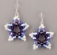 Beaded Earrings Patterns - Make Beaded Five-Pointed Stars