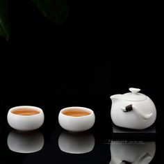 Two cups and a teapot