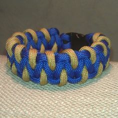 Blue/Desert tan Laced Solomon bar #paracord #bracelet