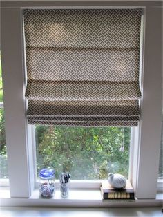 DIY Roman Shades from Mini Blinds | Simply Mrs. Edwards