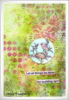 Neon Diary: Bird Journal Page with Chocolate Baroque stamps