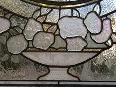 Stained glass & sandblasted etched glass details realized by France Vitrail…