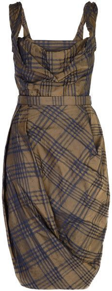 Vivienne Westwood Red Label Green Taffeta Plaid Corset Dress | The House of Beccaria~